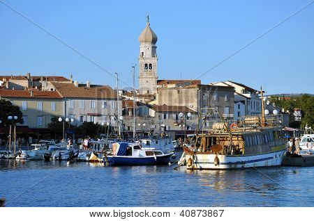 The harbor of Krk, Croatia