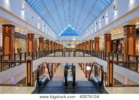 Interior Of Modern Shopping Center