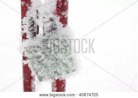Padlock In Snow