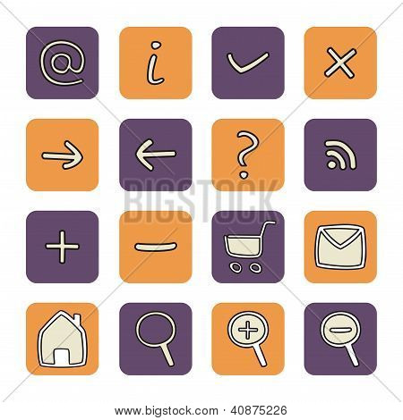 Doodle vector hand drawn icons