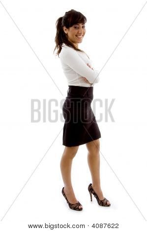 Full Body Pose Of  Businesswoman