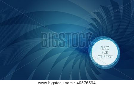 Abstract Blue Background With Place For Text