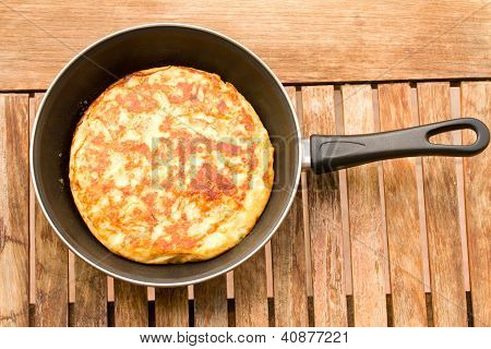 tortilla in pan