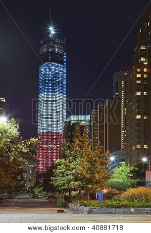 New York City - September 16: One World Trade Center (known As The Freedom Tower) Is Shown Under New