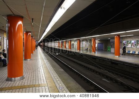 Railway Station In Osaka