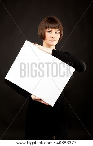 Picture Of Beautiful Woman With White Book