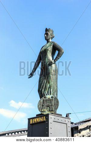 Statue Of Europa At The  Brooks Bridge Of Hamburg