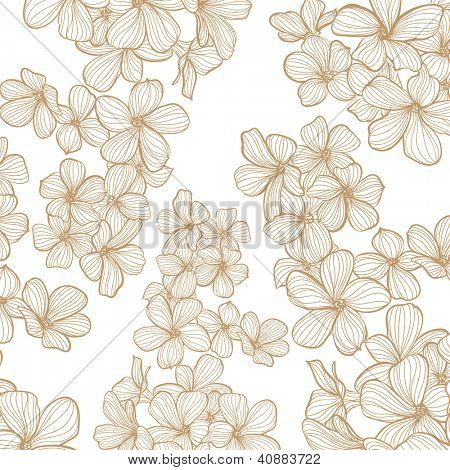 vector bright floral background on light background