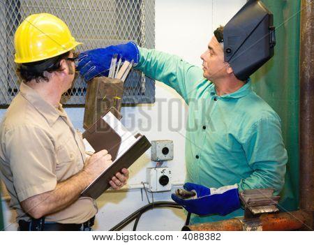 Welder With Supervisor