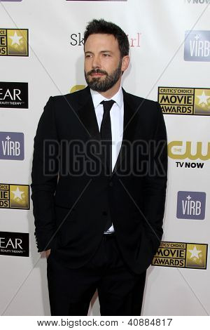 LOS ANGELES - JAN 9:  Ben Affleck arrives at the 18th Annual Critics' Choice Movie Awards at Barker Hangar on January 9, 2013 in Santa Monica, CA