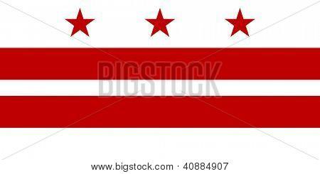 Illustration of Washington D.C City flag, America.