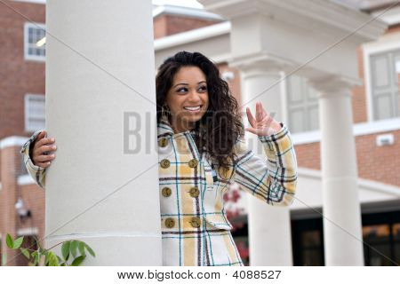 Pretty Girl Waving