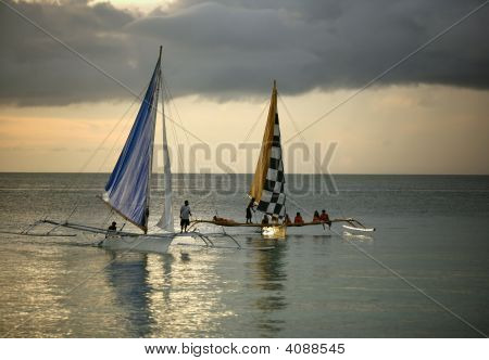 Two Sailing Boat