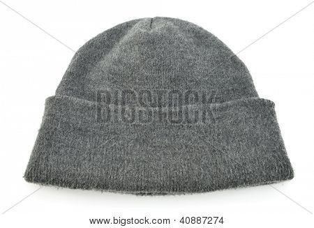 Wool hat isolated on white background