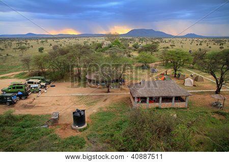 Safari Camp In The Serengeti