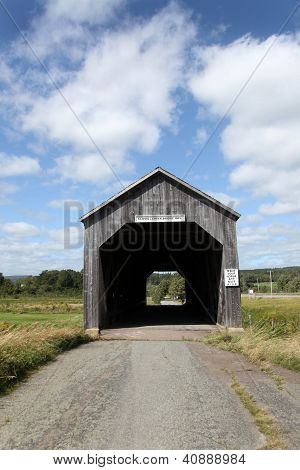 Quaint covered bridge near Hopewell Hill, New Brunswick, Canada