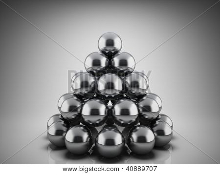 Design abstract geometric shapes of the metallic balls