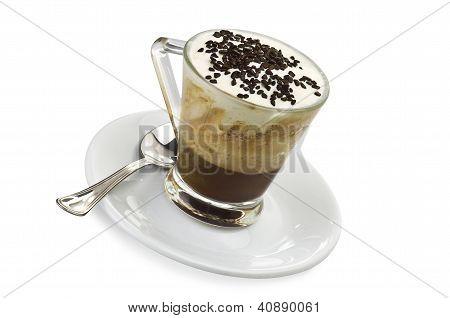 coffee with milk cream