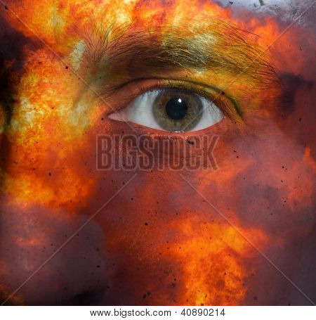 Face With An Explosion Skin