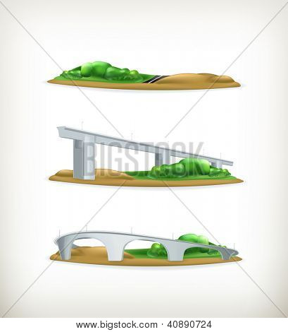 Landscape, design elements vector set