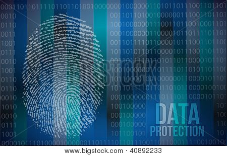 Security Concept: Fingerprint And Data Protection