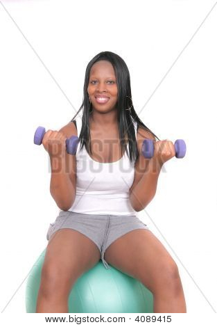 African American Woman Workout