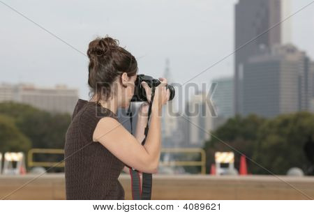Woman Taking Photos