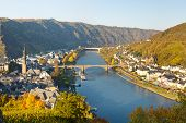 stock photo of moselle  - Cochem on the Moselle River  - JPG