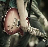 stock photo of guitarists  - Rock and roll - JPG