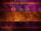 stock photo of jade  - Illustration of purple puttern background with gold ribbon old vintage grunge texture - JPG