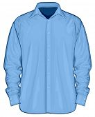 picture of button down shirt  - Vector illustration of dress shirt  - JPG