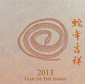 foto of chinese new year 2013  - Chinese 2013 for Year of Snake design - JPG