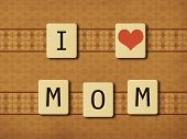 picture of scrabble  - Illustration of scrabble pieces letters tiles over vintage background - JPG