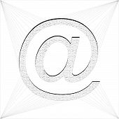 E-mail Sign Trapped In World Wide Web Vector 01