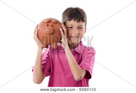 Child With Moneybox Savings