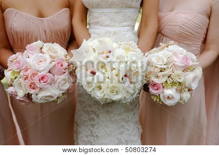 Brides And Bridesmaids Wedding Bouquets