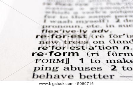 Reforma definida