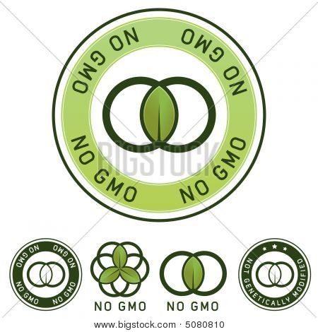 Not Genetically Modified (no Gmo) Food Label