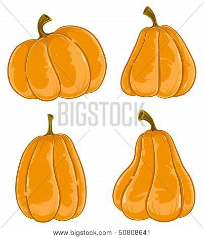 Hand-drawn Pumpkins
