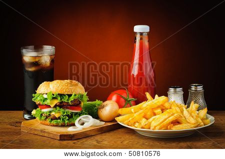 Still Life With Hamburger Menu