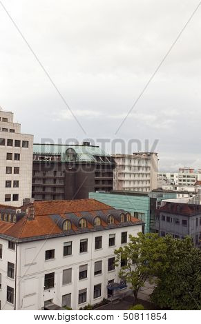Cityscape Rooftop View  Office Buildings Apartments Condos Business  Ljubljana Slovenia Europe Slove