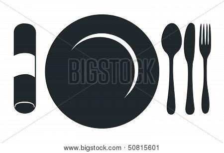 Restaurant Menu Plate