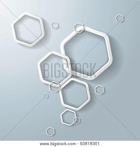 White Hexagon Ring Bubbles