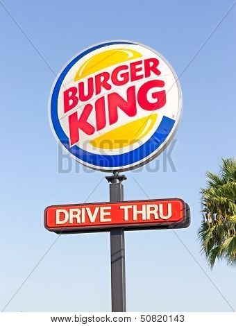 Sacramento, Usa - September 13: Burger King Pole Sign On September 13, 2013 In Sacramento, Californi