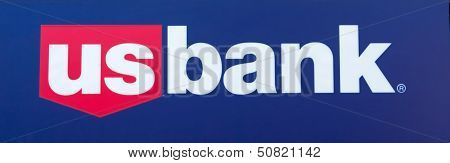 Sacramento, Usa - September 13: Us Bank Sign On September 13, 2013 In Sacramento, California.