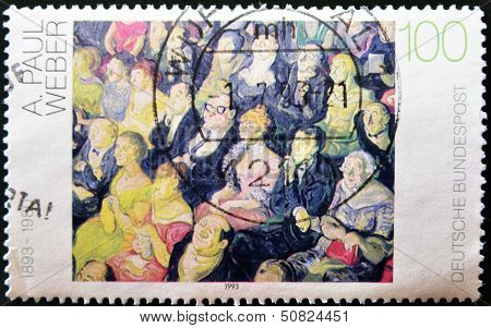 A Stamp Printed In Germany Shows A Painting By Paul Weber