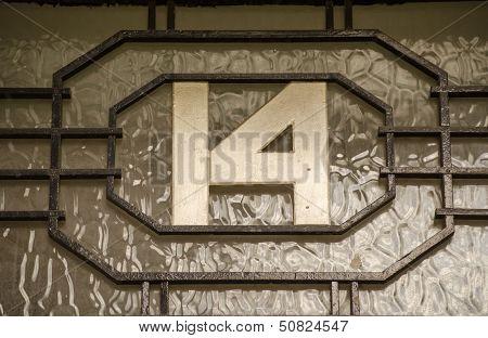 Art Deco number fourteen