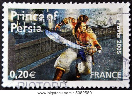 France - Circa 2005: A Stamp Printed In France Shows Prince Of Persia, Circa 2005