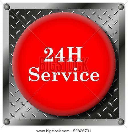 24H Service Metallic Icon