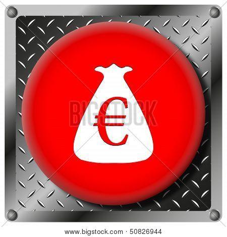 Euro Sack Metallic Icon